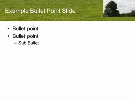 PowerPoint Field Background Template inside page