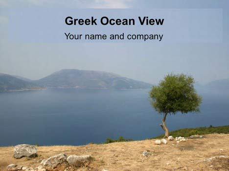 Greek Ocean View PowerPoint Template