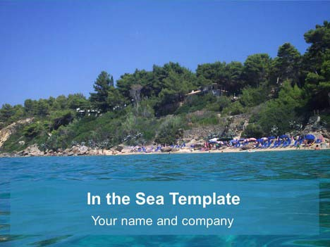 In the sea powerpoint template toneelgroepblik