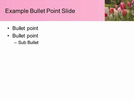 Free Pink Tulips PowerPoint Template inside page
