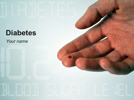 diabetes powerpoint template, Powerpoint