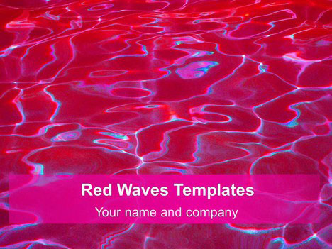 Red Wave Slide for PowerPoint