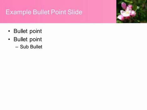 Apple Blossom Background Template inside page