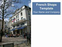 French Shops Background Template