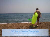 Off for a Swim PowerPoint Template thumbnail