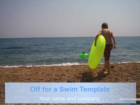 Off for a Swim PowerPoint Template