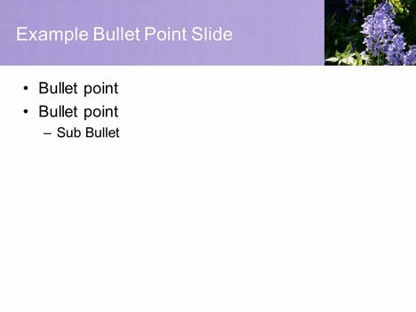Free Pretty Bluebell PowerPoint Template inside page