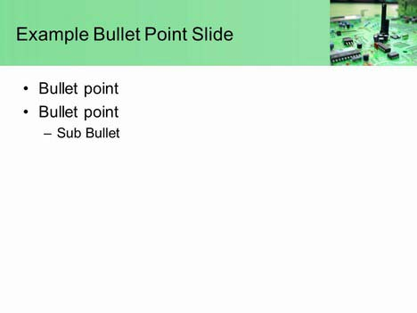 Circuit City PowerPoint Template inside page