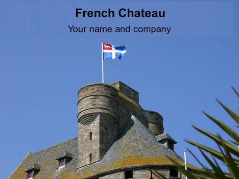 French Chateau background Template