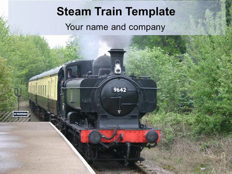 Steam Train Background PowerPoint Template