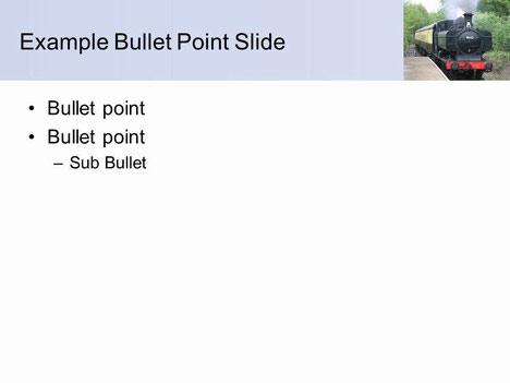 증기 기차 배경 페이지 내부의 파워 포인트 템플릿