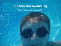 Underwater Swimming PowerPoint Template thumbnail