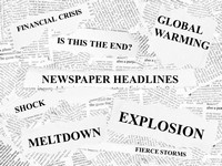 Free Newspaper Headlines Powerpoint Template