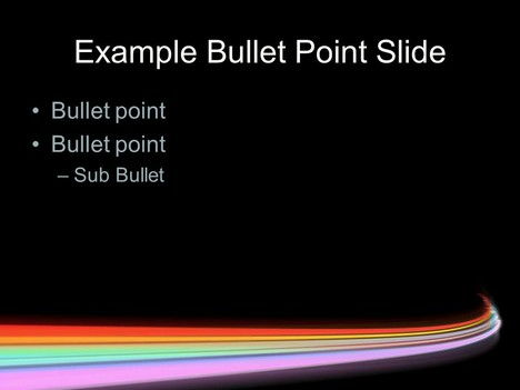 Rainbow Motion Blur Template inside page