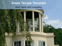 Greek Temple PowerPoint Template thumbnail