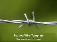 Free Barbed Wire PowerPoint Template thumbnail