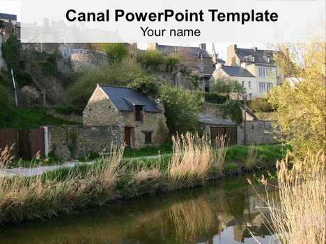 Canal Background PowerPoint Template