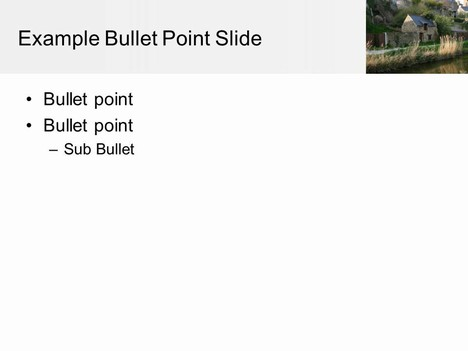 Canal Background PowerPoint Template inside page