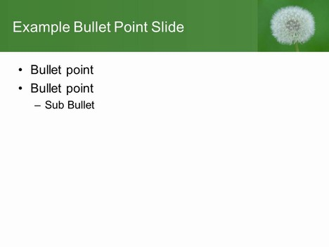Free Dandelion PowerPoint Template inside page