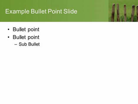 Picket Fence PowerPoint Template inside page