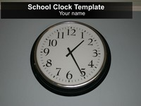 Free School Clock PowerPoint Template thumbnail