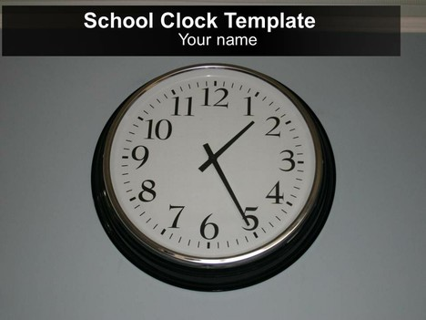 free school clock powerpoint template, Modern powerpoint