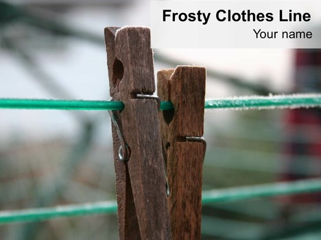 Frosty Clothes Line Background Template