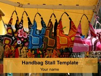 PowerPoint Handbag Stall Download Template