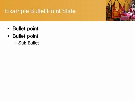 PowerPoint Handbag Stall Download Template inside page