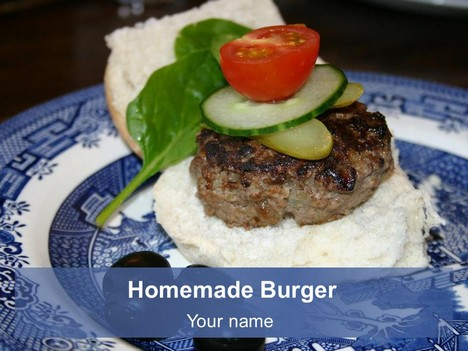 Home-made Burger Template