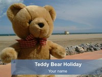 Teddy Bear Holiday Template