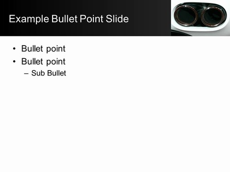 Car Exhaust Template inside page