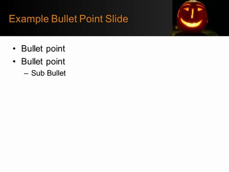 Jack-O'-Lantern Background Template inside page