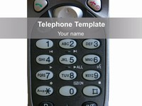 Telephone PowerPoint Template thumbnail
