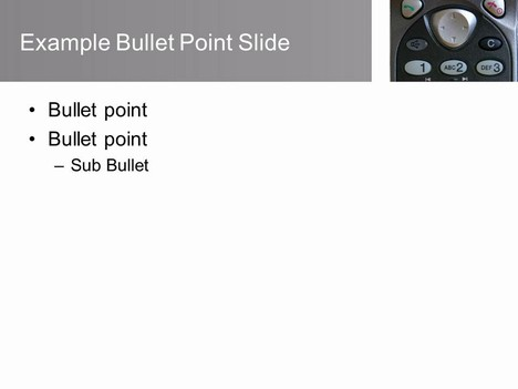 Telephone PowerPoint Template inside page