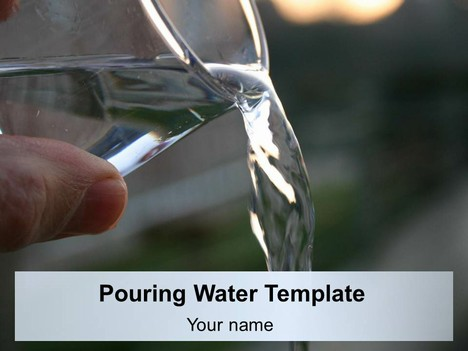 Pouring Water Template
