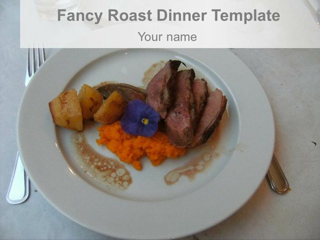 Fancy Roast Dinner Template