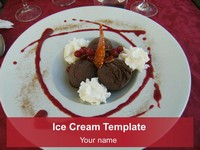 Ice Cream PowerPoint Template thumbnail