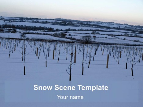 Background Snow Scene Template