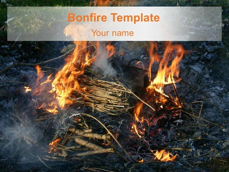 Bonfire powerpoint template toneelgroepblik Choice Image