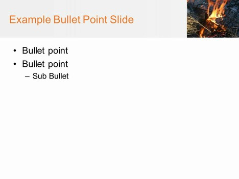 Bonfire PowerPoint Template inside page