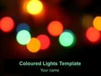 Free Coloured Lights Template