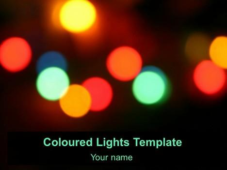무료 색 색깔의 조명 템플릿