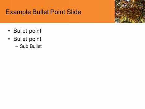 Tree in the Fall PowerPoint Template inside page