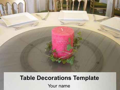 Table Decorations PowerPoint Template