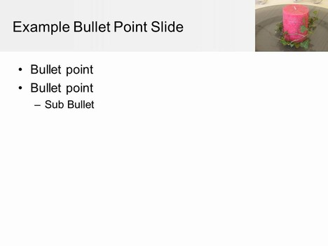 Table Decorations PowerPoint Template inside page