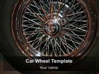 Car Wheel PowerPoint Template thumbnail