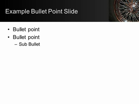 Car Wheel PowerPoint Template inside page