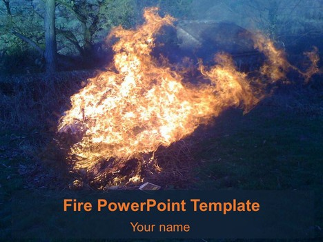 Free Fire PowerPoint Template Physics Black And White
