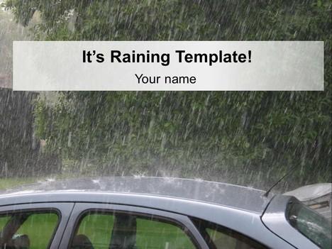 it s raining template